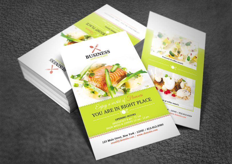 Restaurant business card redpencilmedia bscardrestaurant13 colourmoves