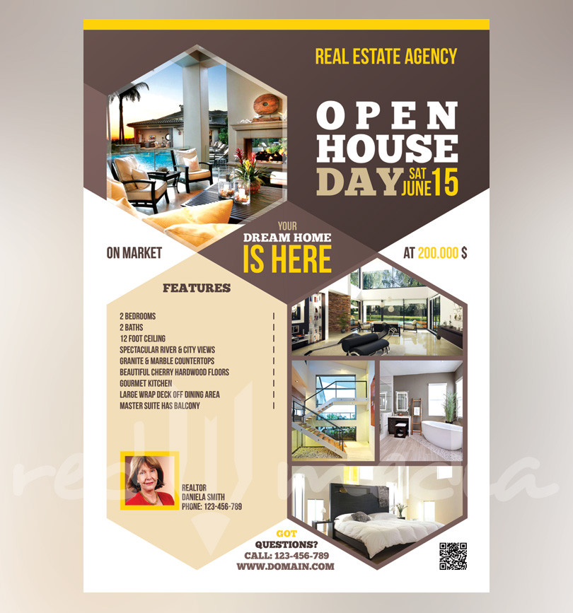Real Estate  Open House Flyer  Redpencilmedia