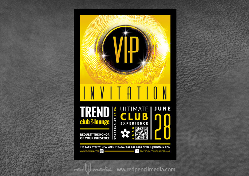 Vip club event invitation redpencilmedia vip club event invitation stopboris Image collections