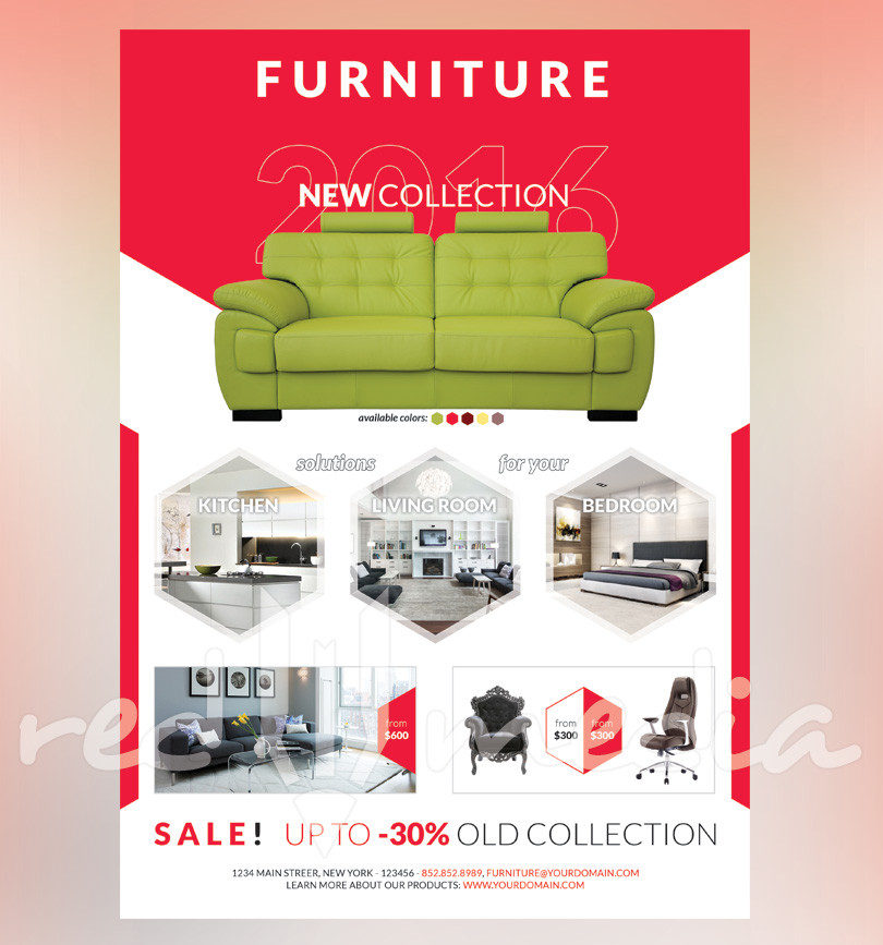 Furniture Store Ads: Furniture Shop Flyer / Magazine AD